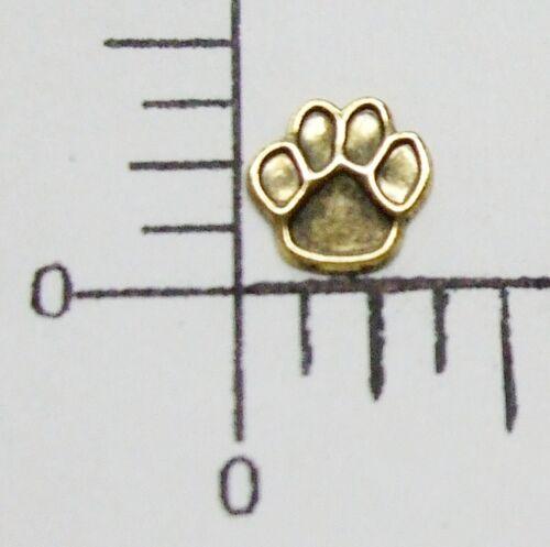 43693 - 6 Pc Bear Paw Jewelry Finding Stamping Brass Oxidized