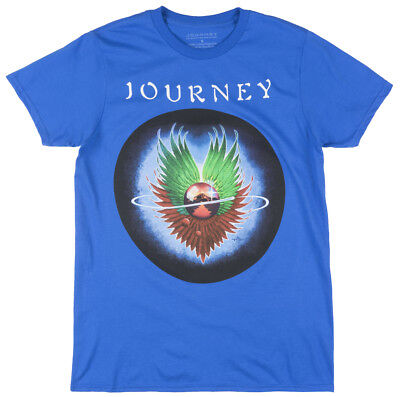 Journey Sweet And Simple Short Sleeve Shirt American Rock Tee Band Top Men Royal