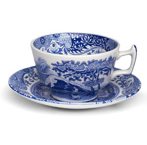 Spode - Blue Italian Tea Cup & Saucer Set