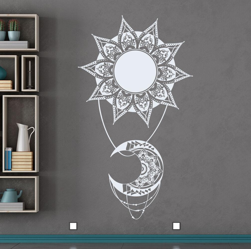 Moon Wall Decal Mandala Vinyl Decal Boho Indian Decor For Ho