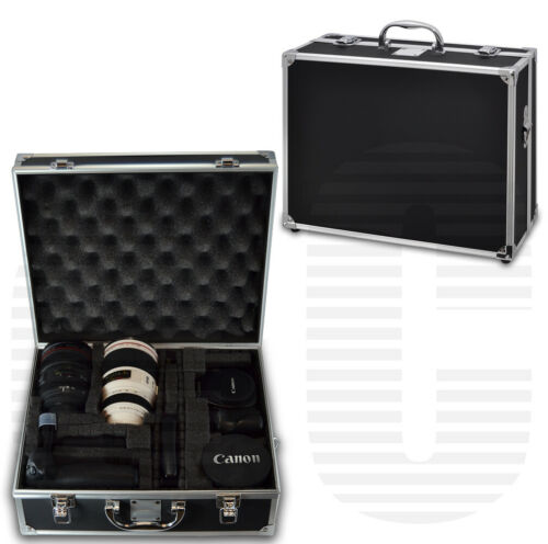 Small Hard Case for Camera / Camcorder Equipment | Black & C