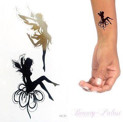 Einmal Tattoo Fee Schwarz - Temporary Tattoo Aufkleber Temporäre Tattoos HC-51