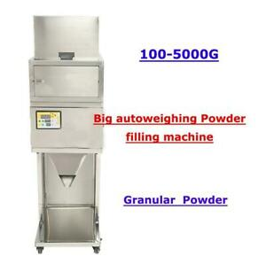 Used 110V 100-5000g BIG Powder filling machine vibratory filler Tea Weigh Automaticitem#188188-1