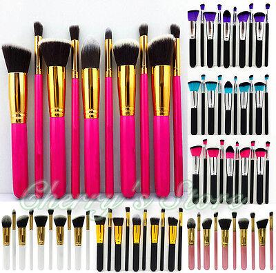 Professional 10pcs Makeup Brushes Set Cosmetic Foundation Eyeshadow Brush Kabuki