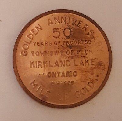 Canadian  Kirkland Lake  Ont Golden Anniversary 50 Years Mile Of Gold  Medallion