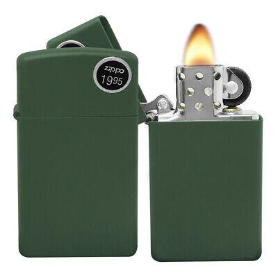 Zippo Lighter 1627 Slim Green New in Box matte finish