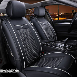 5 car seats universal 2pcs car seat covers front pair set pu leather for all car. Black Bedroom Furniture Sets. Home Design Ideas