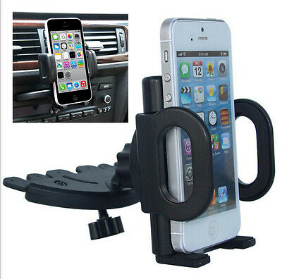 360° Car Holder CD Slot Mount Bracket For Mobile Cell Phone iPhone Samsung GPS