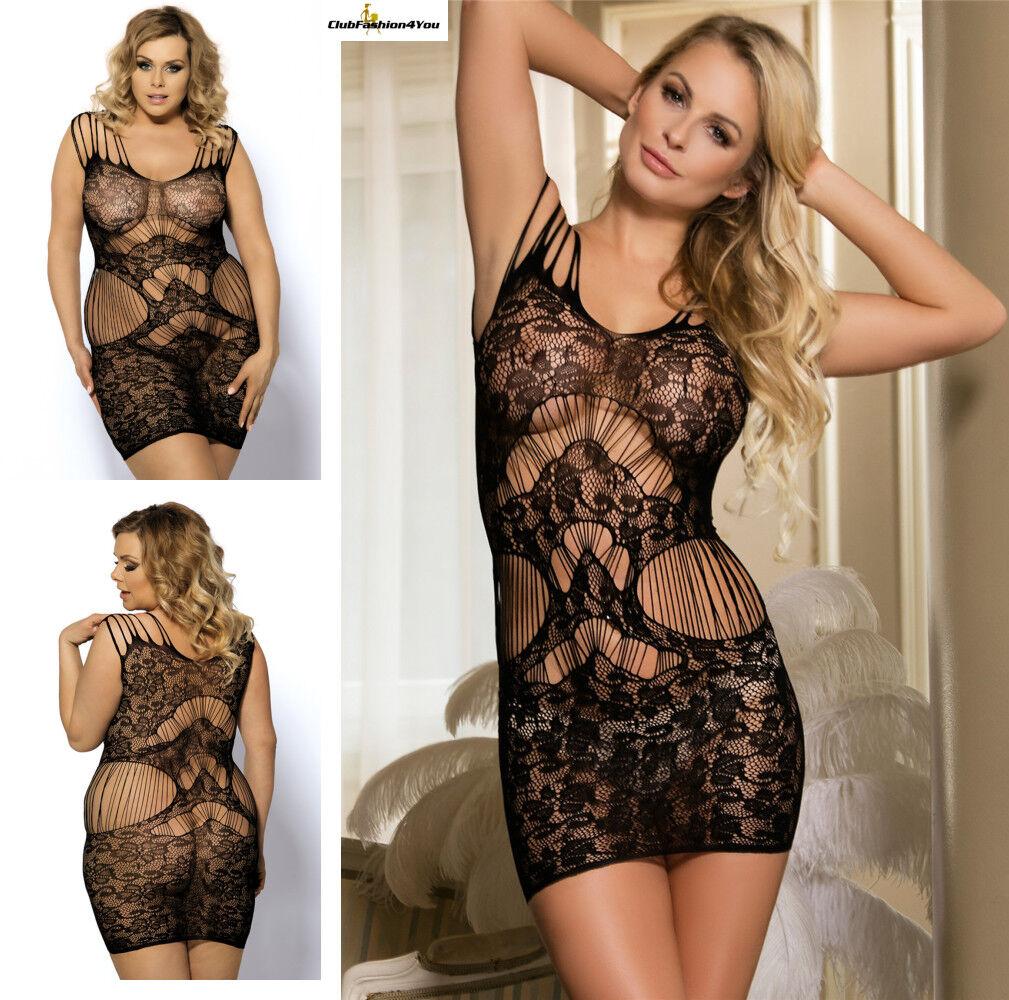 PLUS SIZE DESSOUS | Magic Lace Strap Lingerie Dress | XS-L H3124