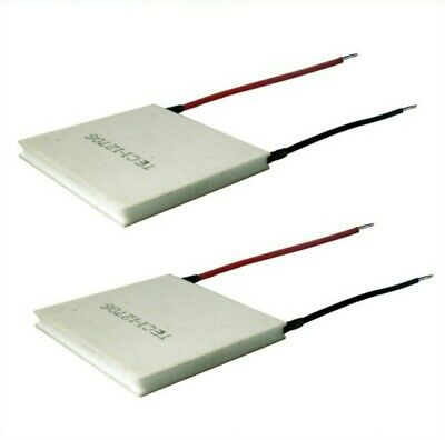 2pcs Tec1-12706 Heatsink Thermoelectric Peltier Cooler 12v 6a 72w 40x40mm New