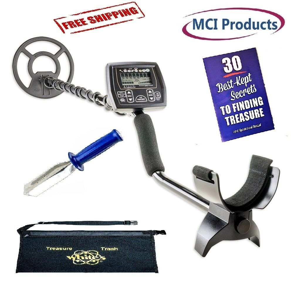 Whites Coinmaster Metal Detector w/ Booklet, Digger & Deluxe Apron 800-0325