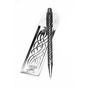 Sea-Gems-Gift-Boxed-Celtic-Bird-Bookmark-Pen-Set-0978
