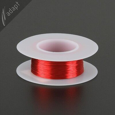 32 Awg Gauge Magnet Wire Red 306 155c Solderable Enameled Copper Coil Winding S