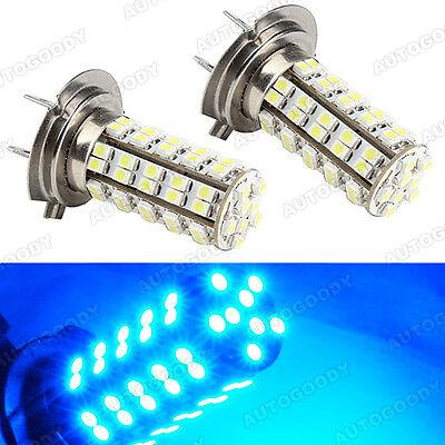 H7 LED Bulbs BLUE 68 SMD DRL Fog Light High Beam