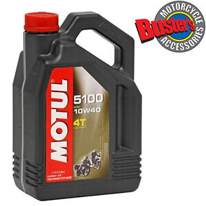 5 Litres Motul 5100 Motorcycle Oil 10w40 Semi Synthetic 5L