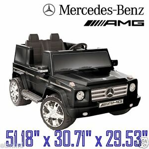 New 12 volt ride on toy truck vehicle mercedes benz g55 for Mercedes benz kids 12 volt electric car