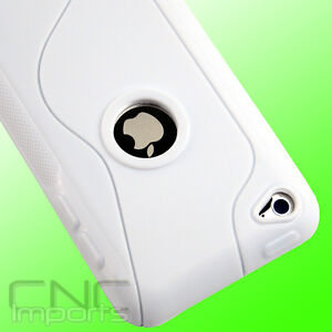 HARD-GEL-WHITE-TPU-LOGO-CASE-COVER-for-Apple-iPOD-TOUCH-4TH-GEN-4G-4
