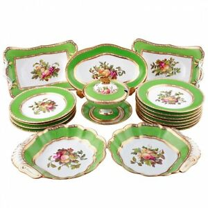 Antique-Early-19th-Century-Spode-Dessert-or-Fruit-Service