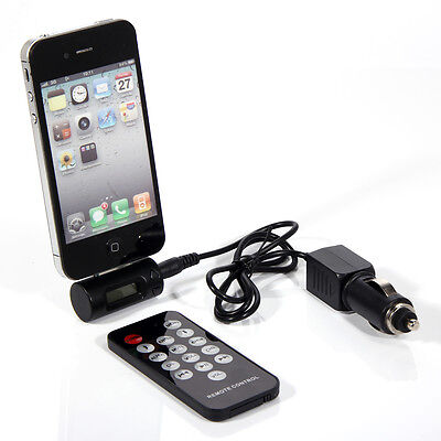 New FM Transmitter + Car Charger + Remote For iPhone 4 4S 3GS 3G iPod Touch USA on Rummage