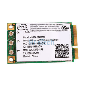 New Intel 4965AGN MM1 Wifi Wireless Card for Dell Latitude D620 D630 D631 D820