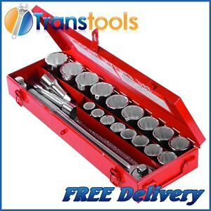 Silverline Metric Socket Wrench Set 3/4