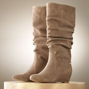 nib comfy slouch wedge boots