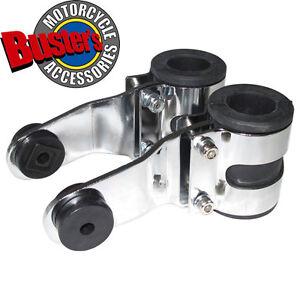 Deluxe-Universal-Motorcycle-Motorbike-Streetfighter-Headlight-Brackets-Silver