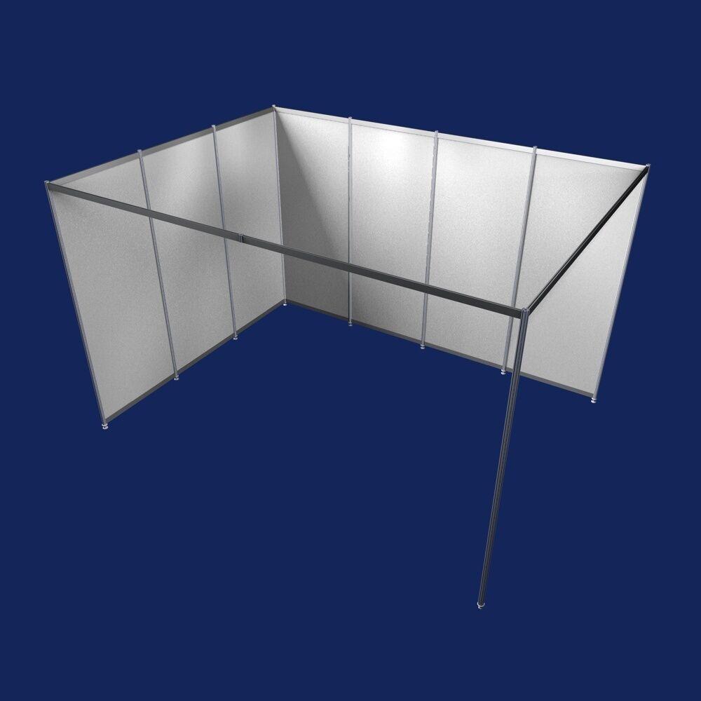 messestand g nstig eckstand 3x4 meter modularsystem messebausystem modul 9 eur 749 00. Black Bedroom Furniture Sets. Home Design Ideas