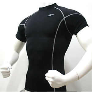 Mens Sports Compression Base Layers Under Armour Tops Shirts Skins Gear Wear
