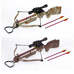 150-lb-Premium-Camouflage-Hunting-Crossbow-Bow-4x20-Scope-12-Arrows-180-80-50