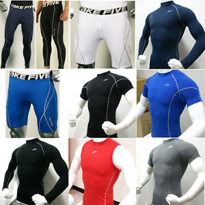 Mens-Sports-Compression-Base-Layers-Under-Armour-Tops-Shirts-Skins-Gear-Wear