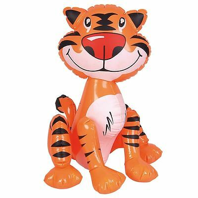 "24"" GIANT INFLATABLE TIGER ZOO ANIMAL BLOW UP NOVELTY PARTY TOY INFLATE"