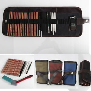 18PCS Sketch Pencils + Pencil Bag + Eraser + Knife + Pencil Extender Drawing Set