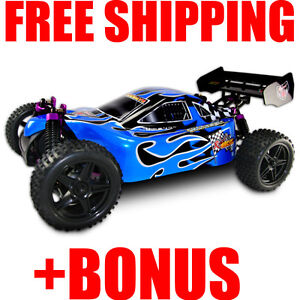 Nitro-Gas-RC-Buggy-4WD-Truck-1-10-Car-New-SHOCKWAVE-BONUS