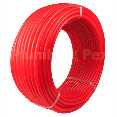 """1/2"""" x 100' Red Oxygen Wall Radiant Inspirit Pex Tubing Piping System - NSF, ASTM"""