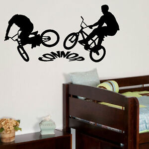 PERSONALISED-BMX-BIKE-LARGE-CHILDRENS-BEDROOM-WALL-MURAL-STICKER-GRAPHIC-VINYL