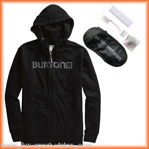 Burton Travel Zip Hoodie Prem Sleeper Logo black men SS 2012 Gr. S  UVP 100,- €