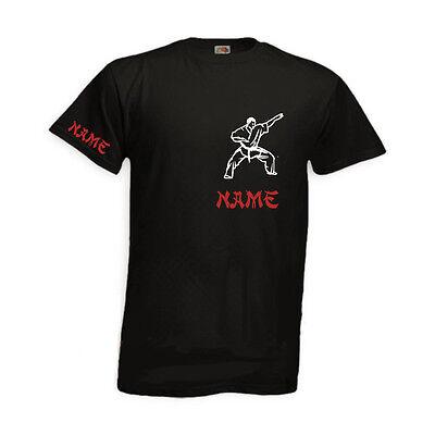 T-Shirt - Karate - mit Ihrem Namen in Mandarinschrift