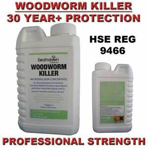 Woodworm in furniture