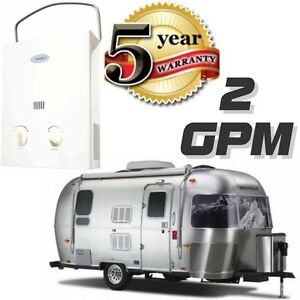 Tankless-Hot-Water-Heater-RV-Camper-Portable-Propane-Gas-2-GPM-Marey