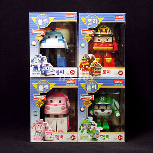 Academy Robocar Poli transformer Robot toys POLI ROY AMBER HELLY 4 sets lot New