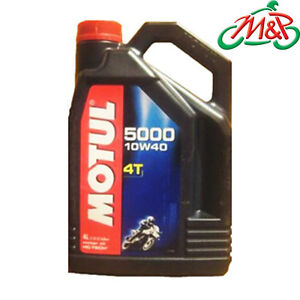Motul 5000 4T Semi-Synthetic 4-Stroke Motorcycle/Bike Engine Oil -10w/40