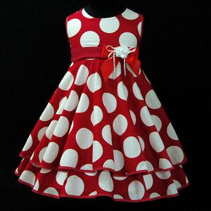 UKGIRLR3118A-Christmas-Reds-Party-Flower-Girls-Dresses-Age-2-3-4-5-6-7-8-9-10-Y