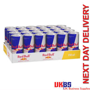 24 x 250ml Cans Red Bull Energy Drink - Team UK Redbull