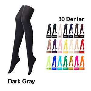 Colorful Opaque Womens Pantyhose Stockings Tights Leggings 80 Denier Color