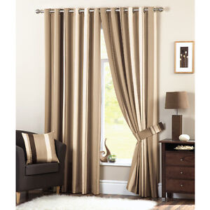 Luxury Modern Fully Lined Eyelet / Tape Top Curtains