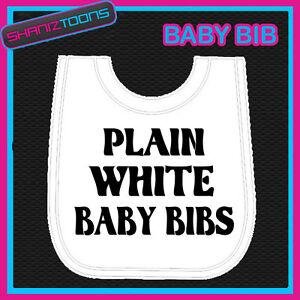10-WHITE-BABY-BIBS-PLAIN-JOB-LOT-BULK-BUY-WHOLESALE