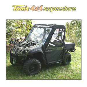 63310.01 Cab Enclosure UTV, Yamaha Rhino Black, Full Soft Top With Doors