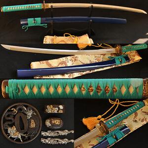41-Japanese-Samurai-Dragon-Sword-Katana-AISI-1095-Steel-Double-Groove-Blade