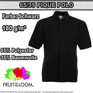 Fruit of the Loom 65/35 PIQUE Herren Polo Shirt  Gr. S - XXXL